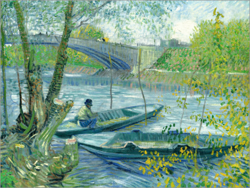 Juliste Angler and boat at the Pont de Clichy