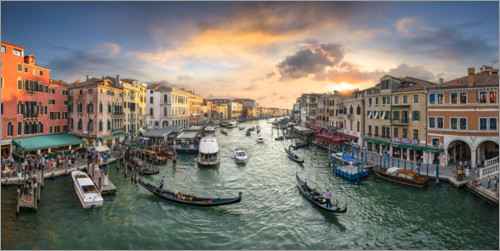 Juliste Sunset over the Grand Canal