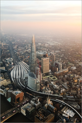 Juliste The Shard at sunset from the top, London, UK