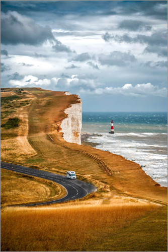Juliste White Cliffs in southern England