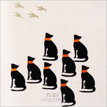 PVC-taulu  Picture book - fly bird - Koloman Moser