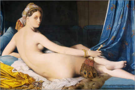 Canvas-taulu  The Great Odalisque - Jean Auguste Dominique Ingres