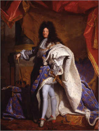 Galleriataulu  Louis XIV in Royal Costume - Hyacinthe Rigaud
