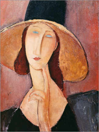 Galleriataulu  Jeanne Hebuterne in a large hat - Amedeo Modigliani