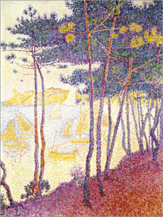 Juliste Pine trees and sailing boats