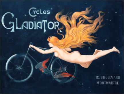 Canvas-taulu  Cycles Gladiator - Georges Massias