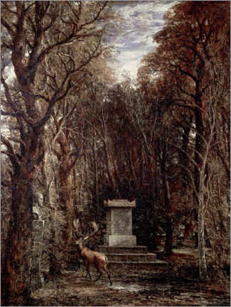 Galleriataulu  The Cenotaph to Reynold's Memory - John Constable
