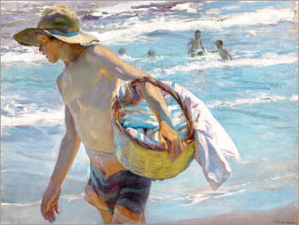 Canvas-taulu  Young fisherman - Joaquín Sorolla y Bastida