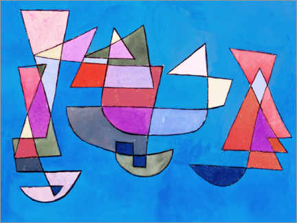 PVC-taulu  Sailing boats - Paul Klee