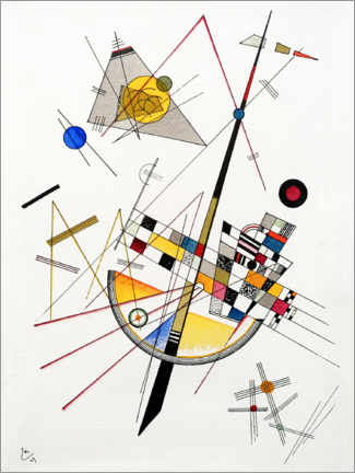 Juliste  Mild Tension - Wassily Kandinsky