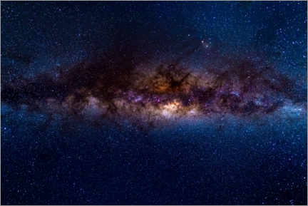 PVC-taulu  The Milky Way galaxy, details of the colorful core. - Fabio Lamanna