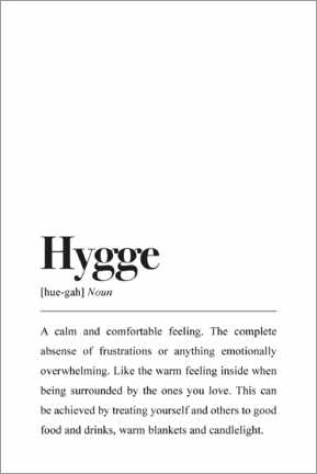 Canvas-taulu  Hygge Definition - Pulse of Art