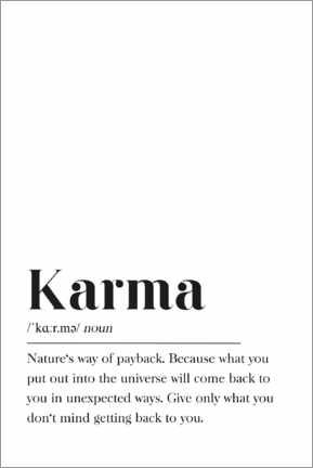 Galleriataulu  Karma Definition - Pulse of Art