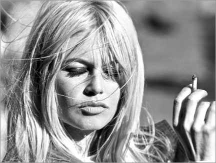 Alumiinitaulu  Brigitte Bardot - puhallettu pois - Celebrity Collection