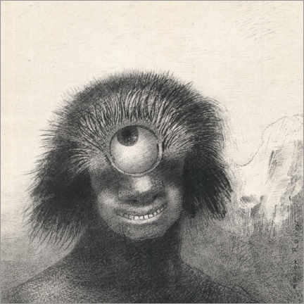 Canvas-taulu  Smiling and abominable Cyclops - Odilon Redon