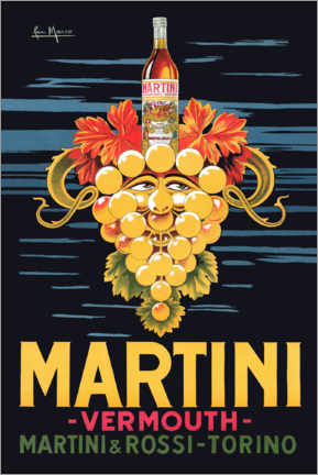 Akryylilasitaulu  Martini advertising poster - Advertising Collection