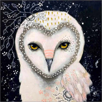 PVC-taulu  Melody of the owl - Micki Wilde