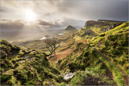 Akryylilasitaulu  Scottish highlands in stormy weather - The Wandering Soul