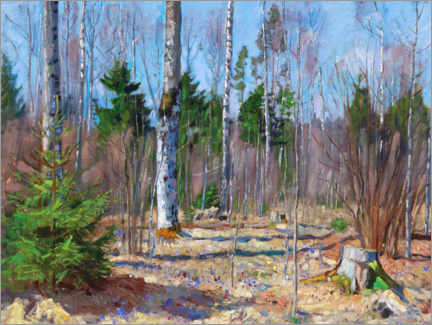 Juliste Spring day at the edge of the forest