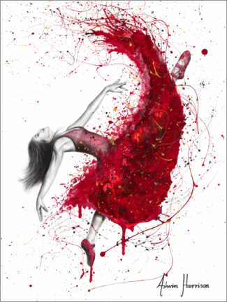 Juliste Dance with red wine