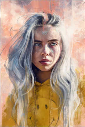 Canvas-taulu  Billie Eilish - Dmitry Belov