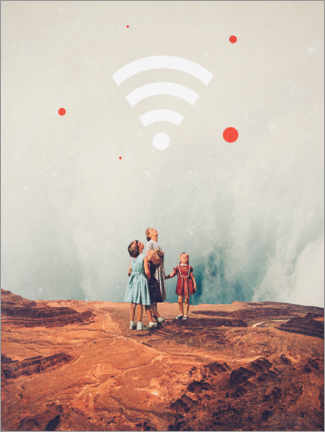 Canvas-taulu  Wirelessly connected to eternity - Frank Moth