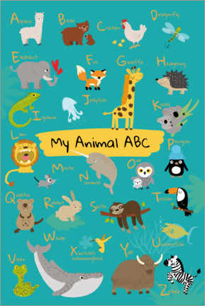 Juliste  My animal ABC I - Julia Reyelt