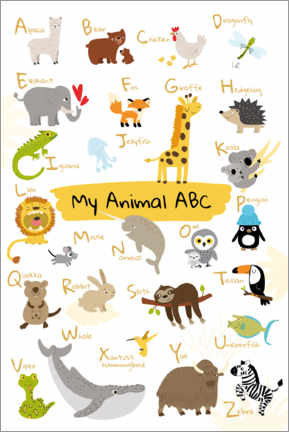 Sisustustarra  My animal ABC II (English) - Julia Reyelt