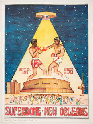 Akryylilasitaulu  Boxing tournament in the Superdome - Entertainment Collection