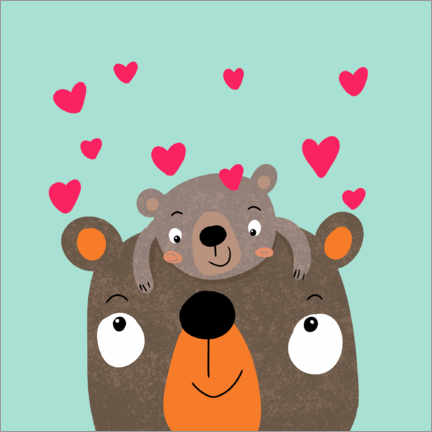 Canvas-taulu  Bears love - Julia Reyelt
