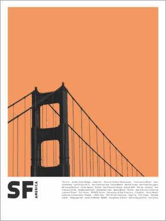 Juliste Attractions in San Francisco