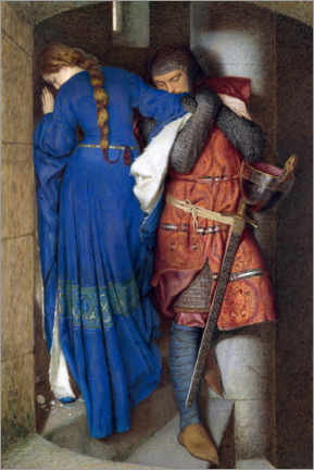 PVC-taulu  Meeting on the Turret Stairs - Frederic William Burton
