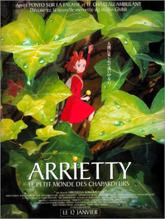 Canvas-taulu  Arrietty (French) - Entertainment Collection