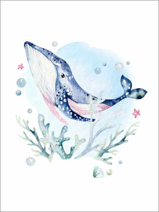 Canvas-taulu  Happy whale - Kidz Collection