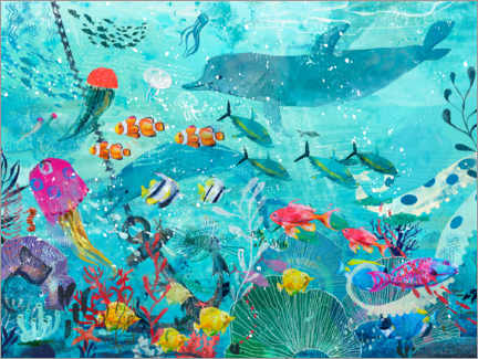 Galleriataulu  Colorful underwater world - Kidz Collection