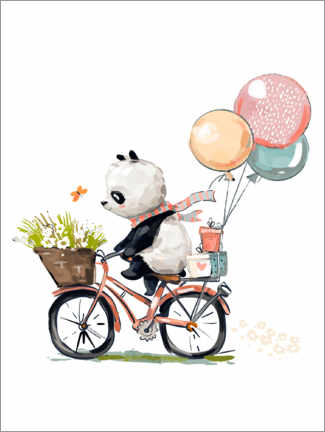 Galleriataulu  Panda on a bike - Kidz Collection