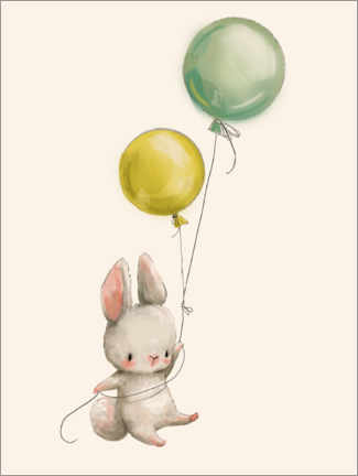 Alumiinitaulu  Bunny with balloons - Kidz Collection