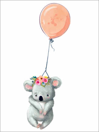 PVC-taulu  Koala with balloon - Kidz Collection
