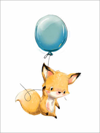 Akryylilasitaulu  Little fox with balloon - Kidz Collection