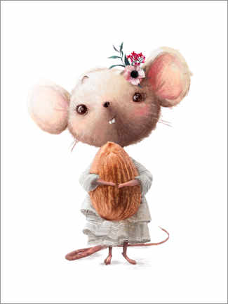 Juliste Mouse with almond