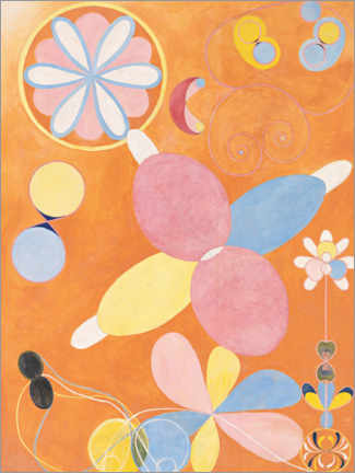 Canvas-taulu  The ten largest, No. 4, youth - Hilma af Klint