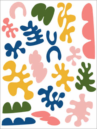Canvas-taulu  New Age Matisse - apricot and birch