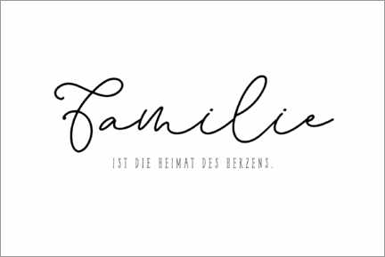 Juliste Family - Home of the Heart (German)