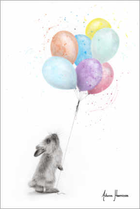Canvas-taulu  The Bunny and The Balloons - Ashvin Harrison