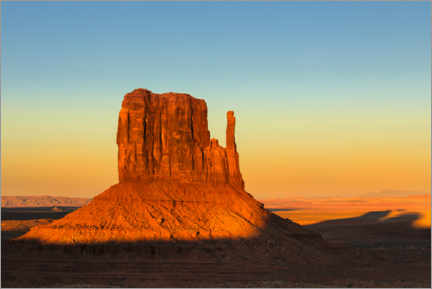 Juliste Monument Valley at sunset