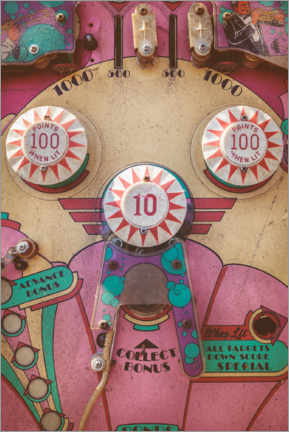 Juliste  The pink pinball machine - Martin Bergsma