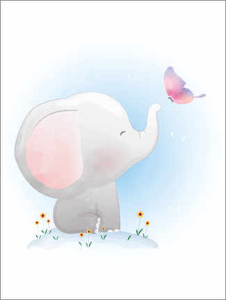 Galleriataulu  Elephant and butterfly - Kidz Collection