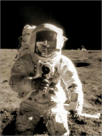 Juliste  Astronaut Charles Conrad on the moon - NASA
