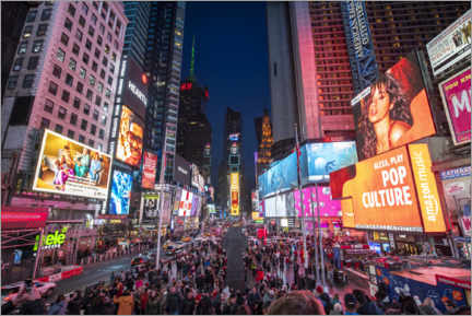 Akryylilasitaulu  Times Square in New York City - Jan Christopher Becke