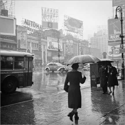 Juliste Times Square on a rainy day in 1944